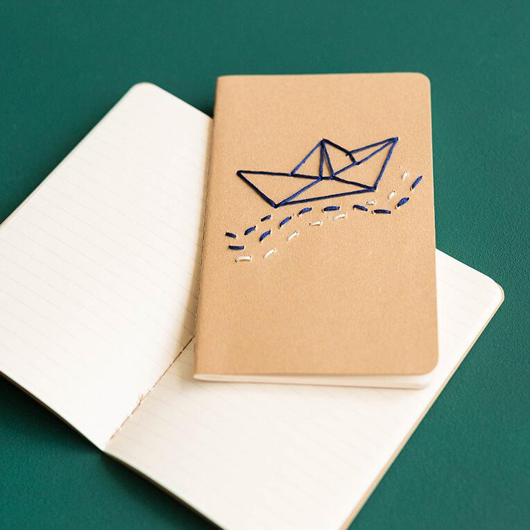 DIY Besticktes Notizbuch