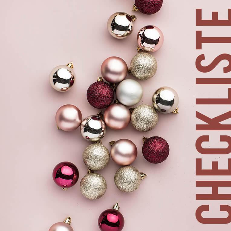 Für die festliche Saison: Checkliste Weihnachtsdekoration