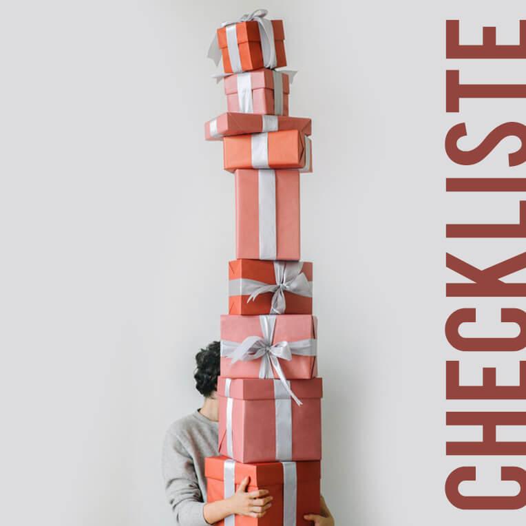 Für die festliche Saison: Checkliste Weihnachtsgeschenke